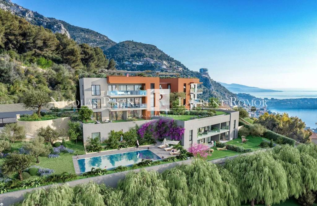 NEAR MONACO -  NEW BUILDING PROGRAM - PENTHOUSE -WITH TERRACE AND  SOLARIUM -SEA VIEW