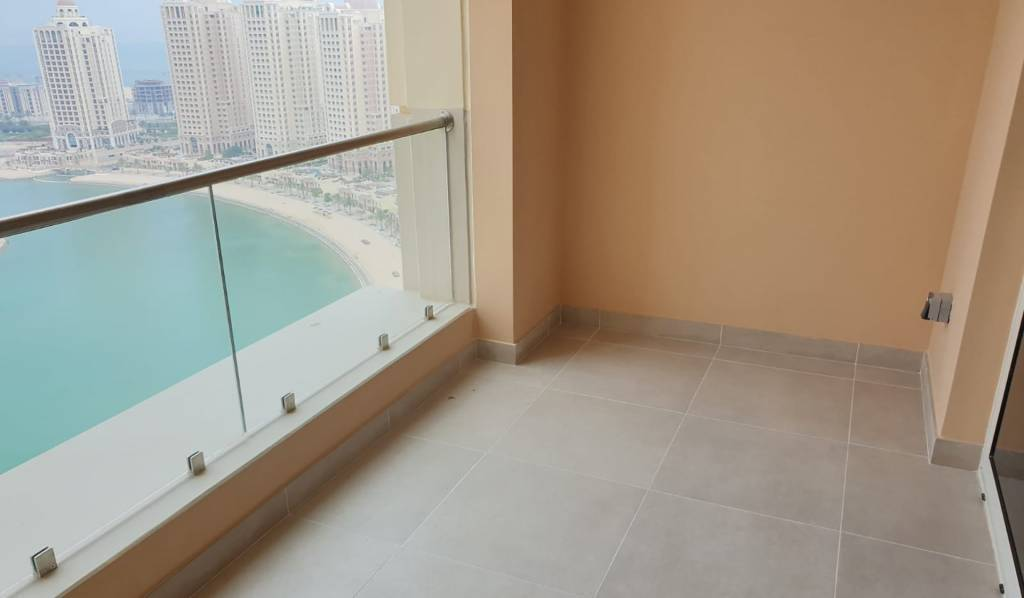 Seaview Modern Semi Furnished Studio With balcony