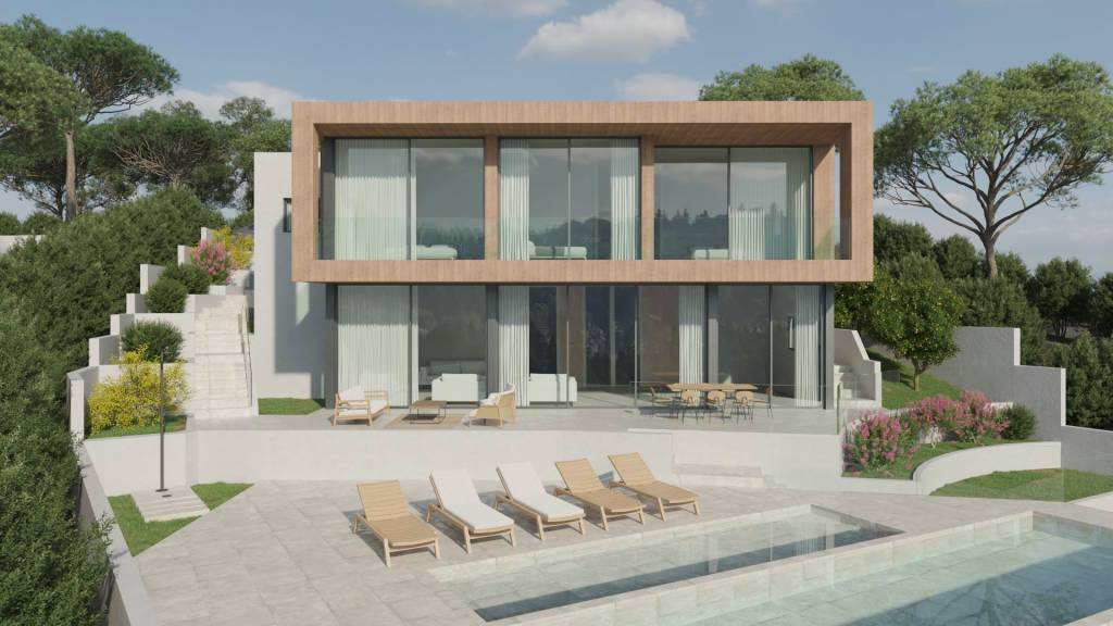 Project of a villa with beautiful views of the sea