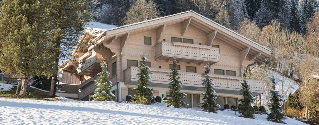 Luxury chalet in Grund/Gstaad, finished in a modern contemporary style with lots of wood